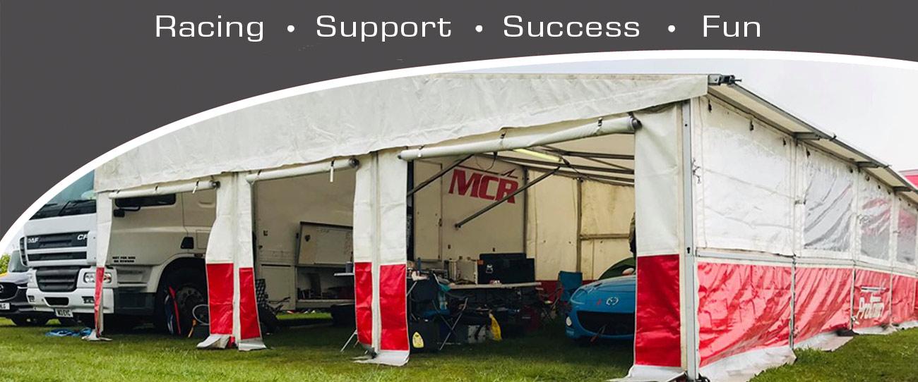 Michael Comber Racing Mazda Mx5 Mk1 Mk3 race awning