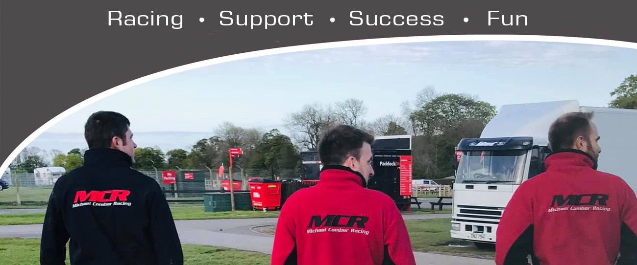 Michael Comber Racing Mazda Mx5 Mk1 Mk3 race personnel in team jackets