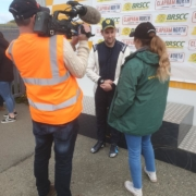 Michael Comber Racing Mazda Mx5 Mk1 race winner interview for Adam Besseell