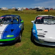 Michael Comber Racing Mazda Mx5 Mk1 race winners at Anglesey