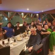 Michael Comber Racing Mazda Mx5 Mk1 Mk3 post race team meal