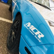 Michael Comber Racing Mazda Mx5 Mk1 racer Adam Bessell with immaculate front wings