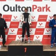 Michael Comber Racing Mazda Mx5 Mk1 race winner Dave Turton at Oulton Park