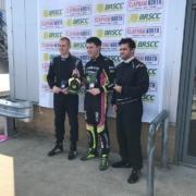 Michael Comber Racing Mazda Mx5 Mk1 podium for racer Will Blackwell Chambers