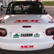 Michael Comber Racing Mazda Mx5 Mk1 race winning at Donington Park