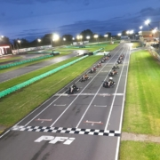 Michael Comber Racing Mazda Mx5 Mk1 Mk3 race team enjoying a karting night out
