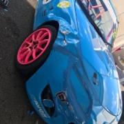 Michael Comber Racing Mazda Mx5 Mk1 Mk3 post race repairs