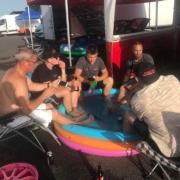 Michael Comber Racing Mazda Mx5 Mk1 Mk3 race team chilling