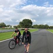 Michael Comber Racing Mazda Mx5 Mk1 pre race track walk or ride